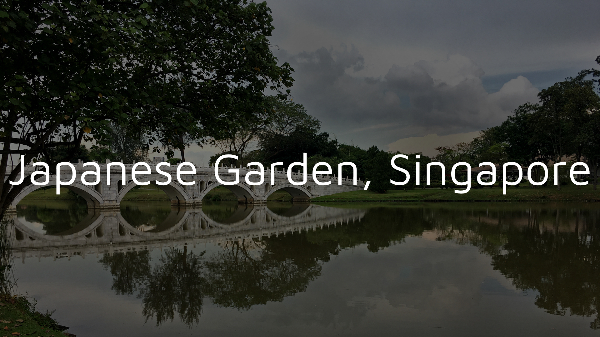 Japanese Garden Singapore Bridge 1920x1080 Dark