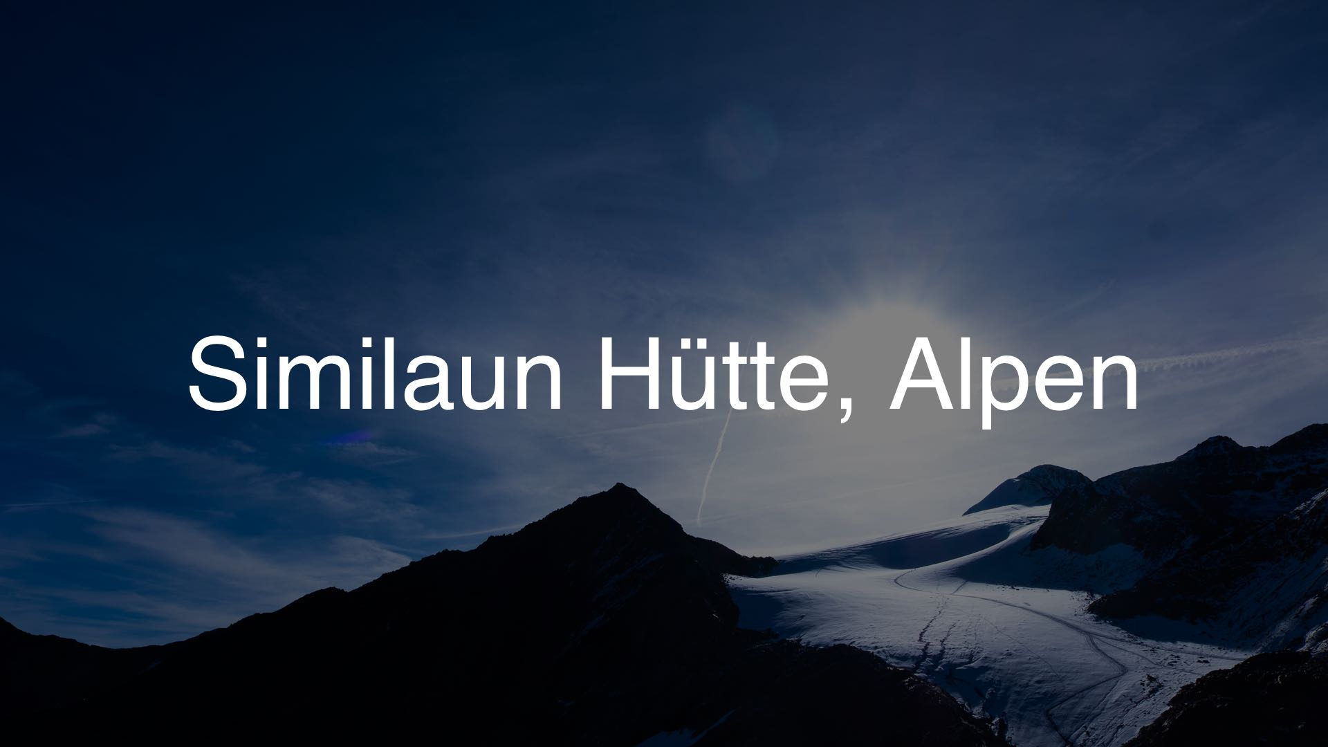 Similaun Hütte 1920×1080 dark