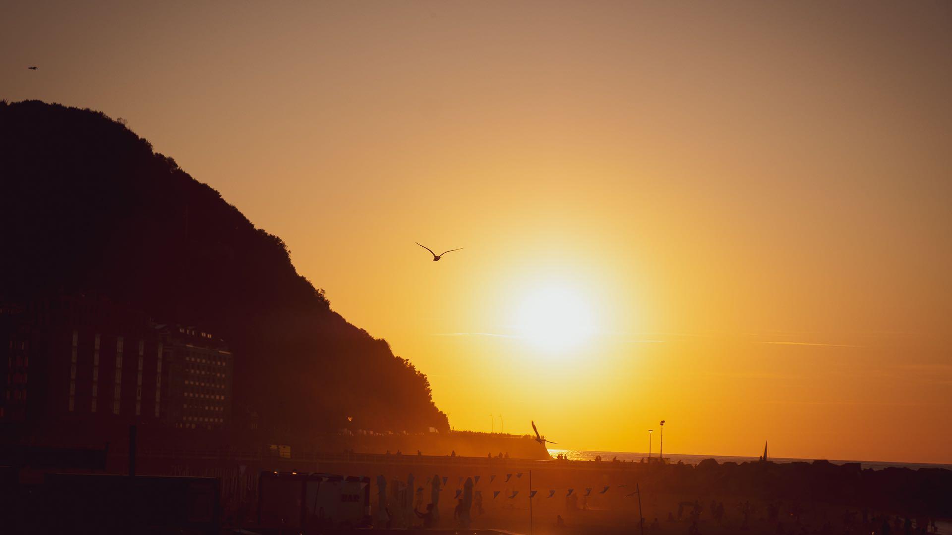 Sunset San Sebastian 1920×1080
